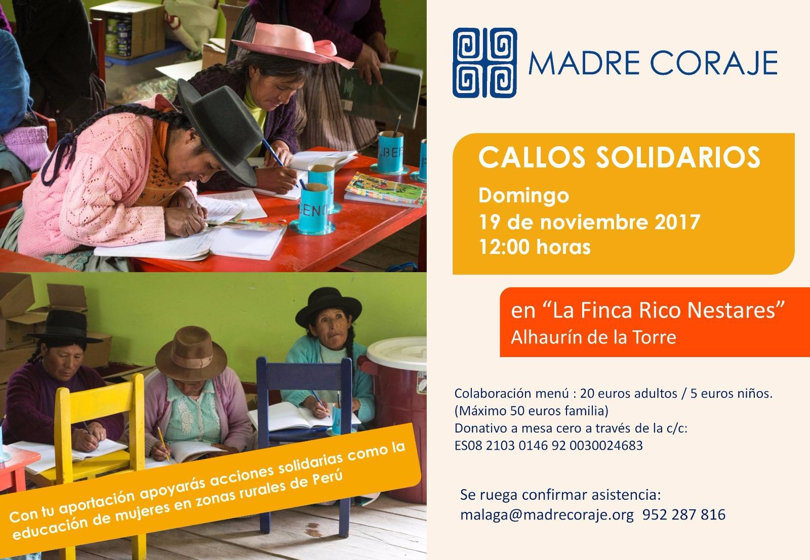 Cartel Callos Solidarios 2017